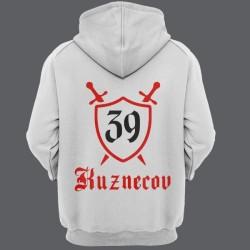Именная толстовка с средневековым шрифтом и щитом 48