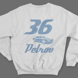 Именной свитшот со спортивным шрифтом и гоночной машиной 5