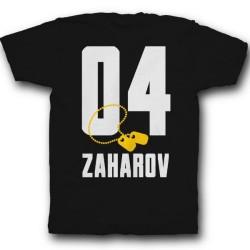 Именная футболка с армейским шрифтом и армейским медальоном 27