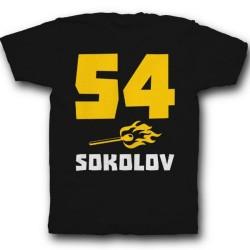 Именная футболка с брутальным шрифтом и спичкой 41
