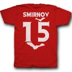 Именная футболка с вампирским шрифтом и летучими мышами 7