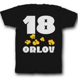 Именная футболка с веселым шрифтом и попкорном  16