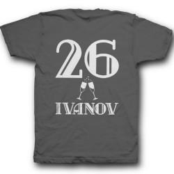 Именная футболка с винтажным шрифтом 2