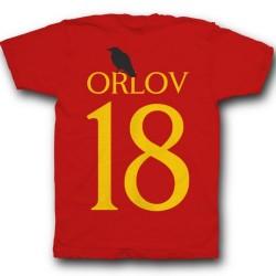 Именная футболка с готическим шрифтом и вороном  20