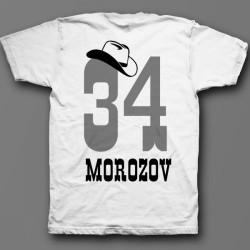 Именная футболка с ковбойским шрифтом и шляпой 12