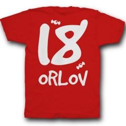 Именная футболка с кривым шрифтом 22