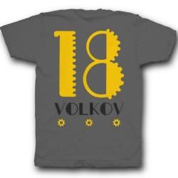 Именная футболка с механическим шрифтом и шестеренками 36