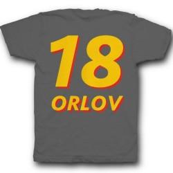 Именная футболка с объемным шрифтом 18