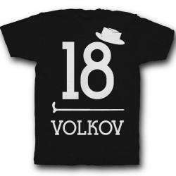 Именная футболка с ретро шрифтом, шляпой и тростью 39