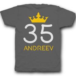 Именная футболка с рукописным шрифтом и короной 29