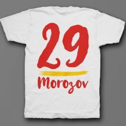 Именная футболка с рукописным шрифтом и мазком кисти 34