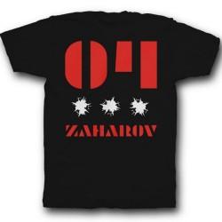 Именная футболка с трафаретным шрифтом и дырками от пуль 26