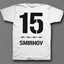"""Именная футболка с тюремным шрифтом 9"""""""
