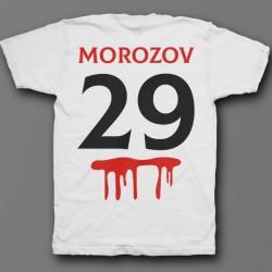 Именная футболка с шрифтом из фильмов ужаса и кровью 33