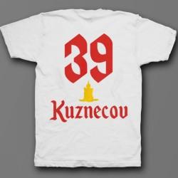 Именная футболка с шрифтом старого времени и свечой 50