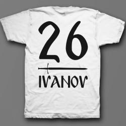 Именная футболка со славянским шрифтом 1
