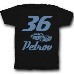 Именная футболка со спортивным шрифтом и гоночной машиной 5