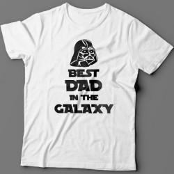 """Футболка в подарок для папы с надписью """"Best dad in the galaxy"""""""