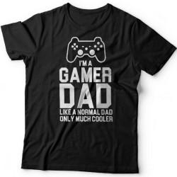"""Футболка в подарок для папы с надписью """"I'm a gamer dad (like normal dad, only much cooler)"""""""