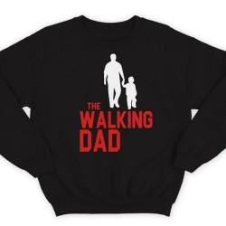 """Свитшот в подарок для папы с надписью """"The walking dad"""" (""""Ходячий отец"""")"""