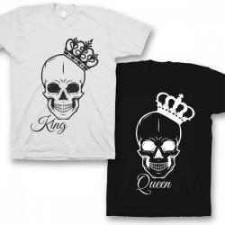 Парные футболки для влюбленных 'King/Queen'
