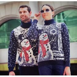 Мужской свитер со снеговиком 230-422