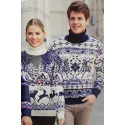 Женский свитер с оленями 130-132