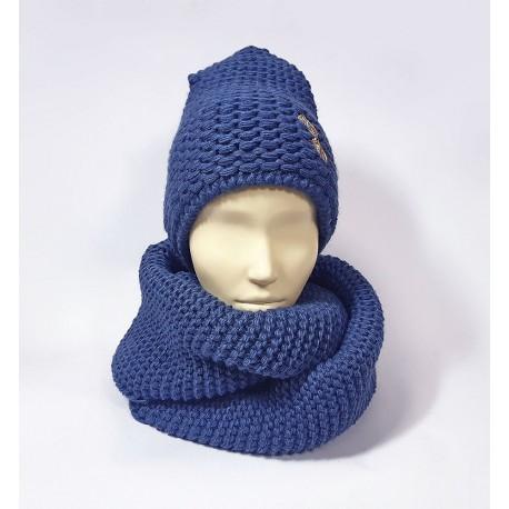 Комплект шапка и шарф (джинсовый)
