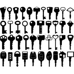 Набор заготовок ключей для универсальных и вертикальных станков
