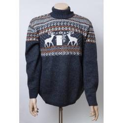 Мужской свитер с оленями 05181 красный