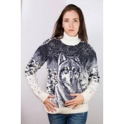 Свитер с волком 130-93 (унисекс)