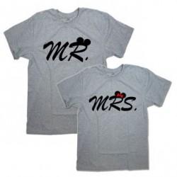 """Парные футболки с надписью """"MR.&MRS."""""""