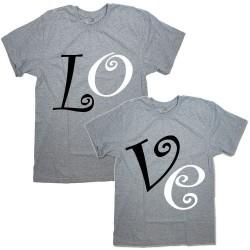 """Парные футболки с надписью """"LO&VE"""""""