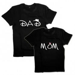 """Парные футболки с надписью """"Dad&Mом"""""""