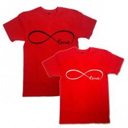 """Парные футболки с знаком бесконечности """"Love"""""""