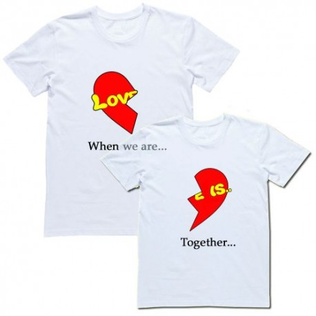 """Парные футболки """"Love is....when we are together"""""""