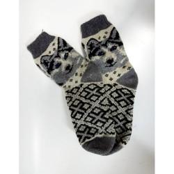 Шерстяные носки мужские с собакой