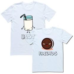 """Парные футболки """"Best Friends(Печенько&Молоко)"""""""