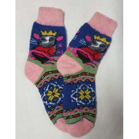 """Шерстяные носки """"Мышка"""""""