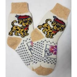 Шерстяные носки детские со свинкой