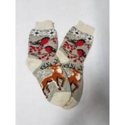 Шерстяные носки с собакой