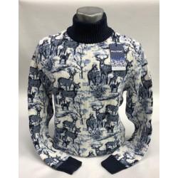 Мужской свитер с оленями 230-382