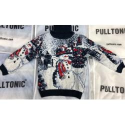 Детский свитер со снеговиком 330-27
