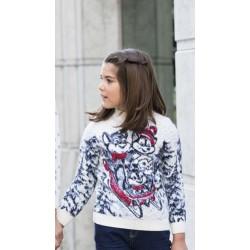 Детский свитер со сказочными животными 340-24