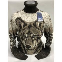 Мужской свитер с волком 230-389