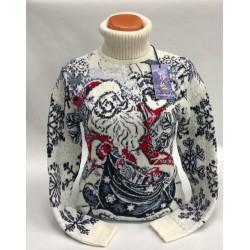 """Шерстяной свитер """"Дед Мороз"""" 130-002"""