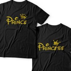 """Парные футболки для влюбленных """"Prince (Принц)"""" и """"Princess (Принцесса)"""""""