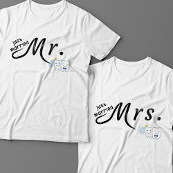"""Парные футболки для молодоженов """"Mr."""" и """"Mrs."""""""