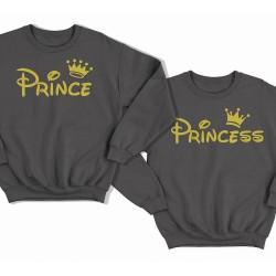 """Парные свитшоты для влюбленных """"Prince (Принц)"""" и """"Princess (Принцесса)"""""""