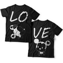 """Парные футболки для влюбленных """"LO"""" (Лю-) и  """"VE"""" (-бовь)"""